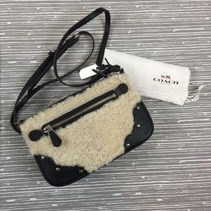 Rhyder Pochette Shearling & Leather Crossbody Bag